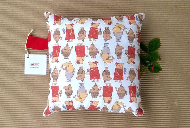 Poduszka Pan Toti z uszkiem 1 - Pan-Toti-Kolekcja - Poduszki dla dzieci         #brand #design #kolekcja #rozmiar #dziecko #baby #styl #wzorki #butik #dawanda #maleńki