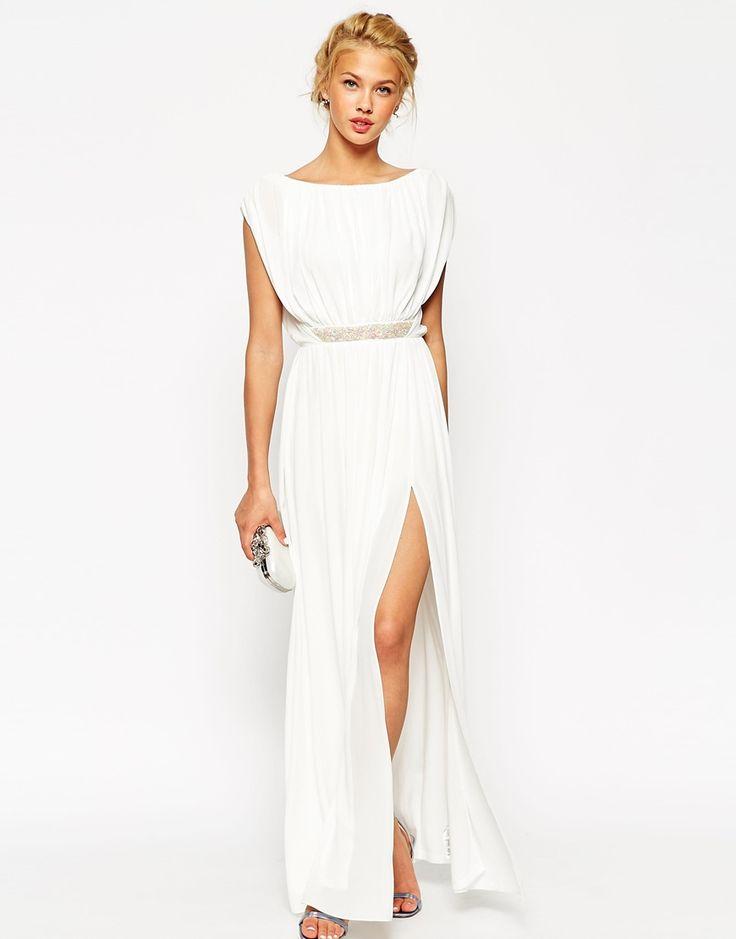 Imagen 1 de Vestido largo con cintura adornada de ASOS