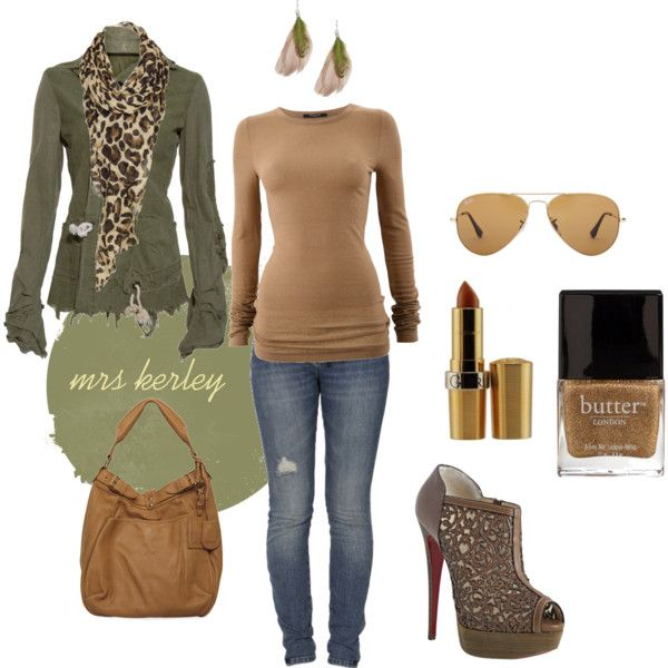 Army Green, created by tx-redhead on Polyvore