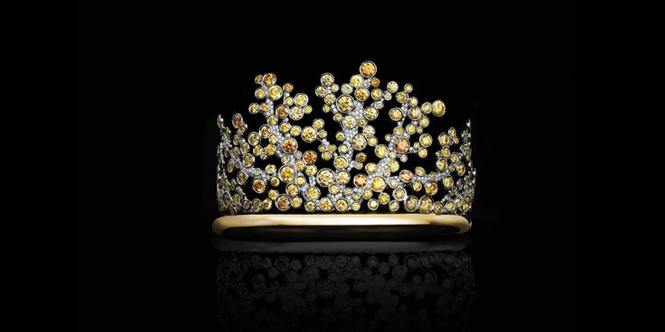 #Tiffany #hautejewellery #yellowdiamonds: #Bracciale in #platino e oro 18k con diamanti tondi gialli e bianchi. | Tiffany & Co.