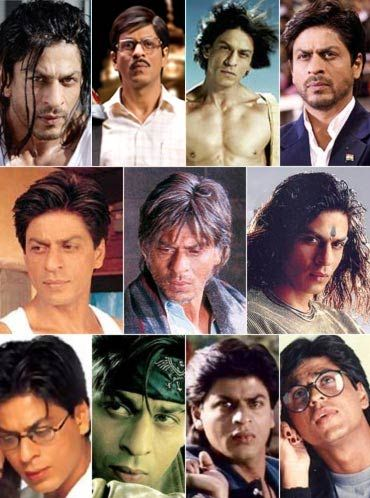Shahrukh Khan - so many different looks ...My favorite Hindi Actor A great character actor.