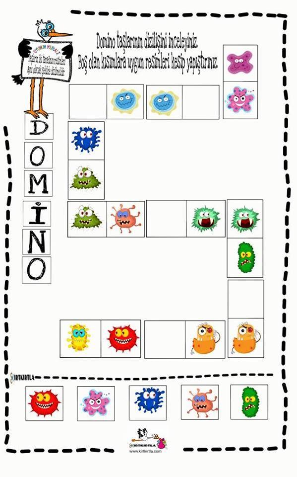 Domino Calisma Sayfasi Okul Oncesi Dikkat Calismasi