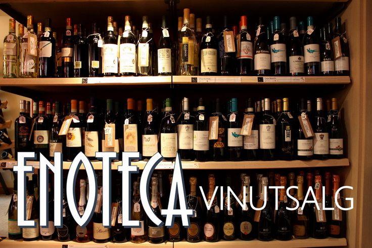 På Enoteca kan du få kjøpt både lokale viner og viner fra andre land
