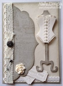 All Dressed Up meets artisan embellishments Stampin Up