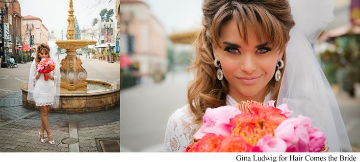 1960's inspired bridal hairstyles. vintage bridal hair and makeup by Hair Comes the Bride