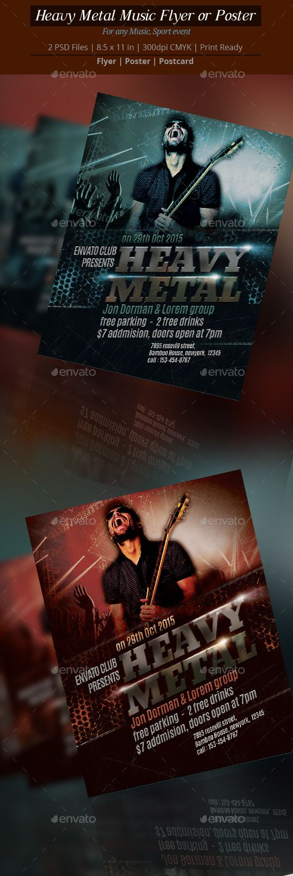 Poster design for technical events - Heavy Metal Music Flyer Or Poster