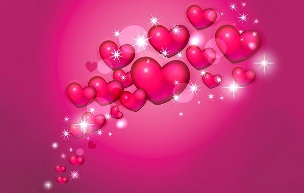 Фото обои валентин, объем, открытка, сердце, влюбленные, коллаж
