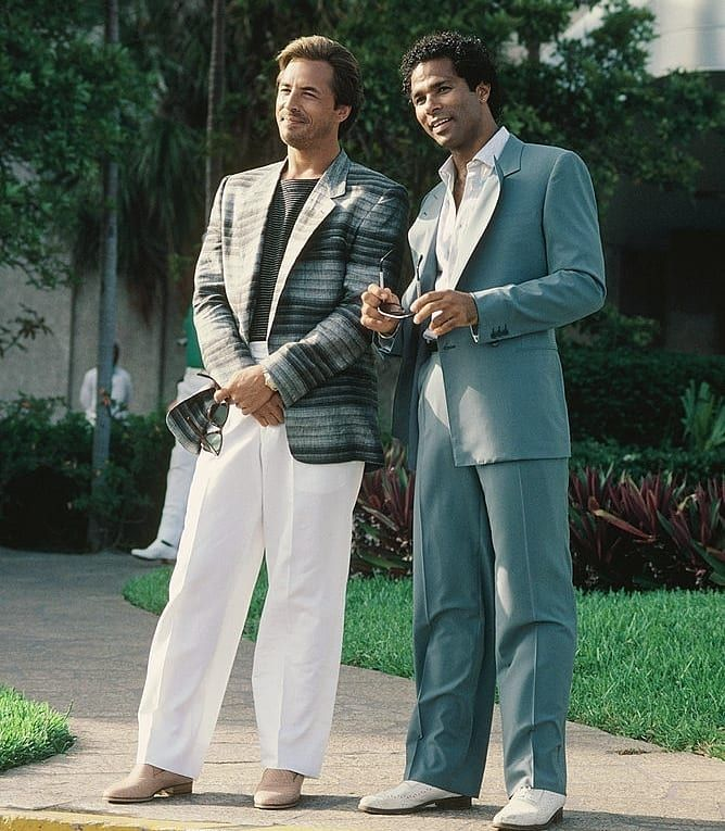 "bc42888d8b3d5 Miami Vice on Instagram: ""Random Crockett and Tubbs photo of the day ..."