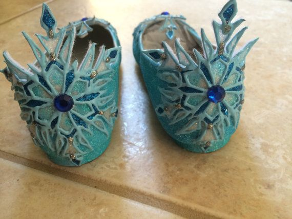 Elsa's Flat Shoes Inspired By Disney Movie by SPLENDIDIMAGINATIONS