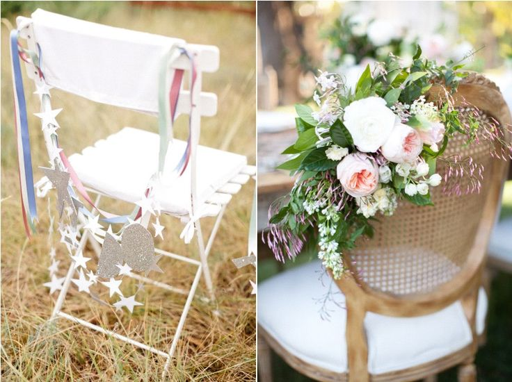 15 id es pour d corer des chaises chair decor wedding mariage and wedding. Black Bedroom Furniture Sets. Home Design Ideas