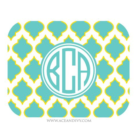 Preppy Mouse Pad - Turquoise – Ace & Ivy