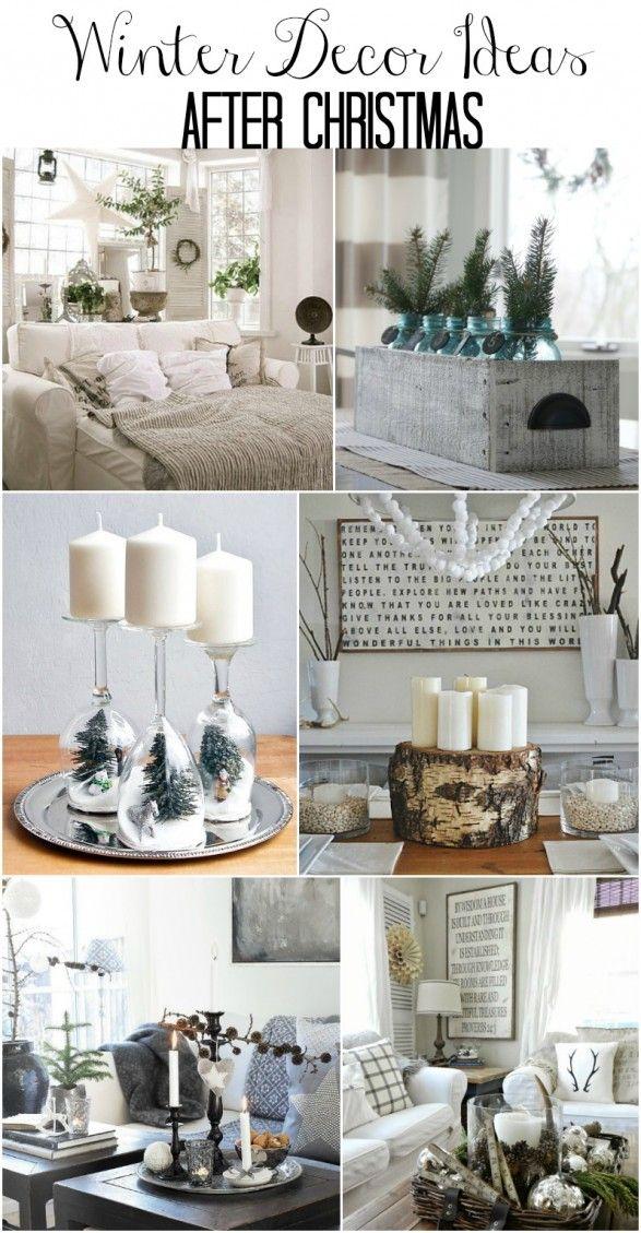 Winter Decorations Part - 15: Winter Mantel And Winter Shelf Decorating Ideas