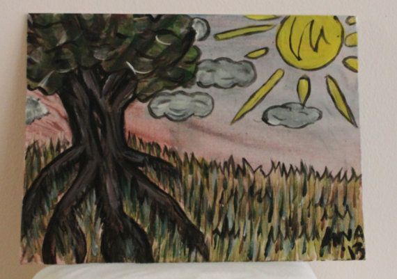 Hey, I found this really awesome Etsy listing at http://www.etsy.com/listing/164861781/sunny-days-tree-9-by-12-flat-canvas