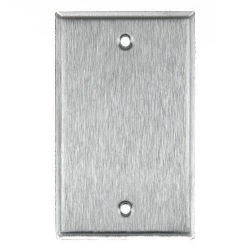 SUNLITE 1 Gang Blank Wall Plate -Steel