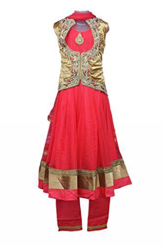 Dark Salmon Colour Girls Party Wear Punjabi Suit, Indian clothing