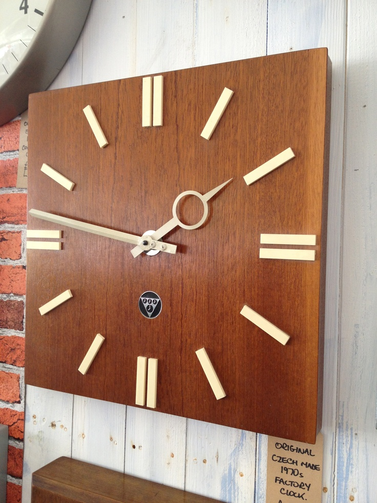 Factory Clock circa 1967 from Prague @ The Midcentury Modern show, Lords Cricket Ground