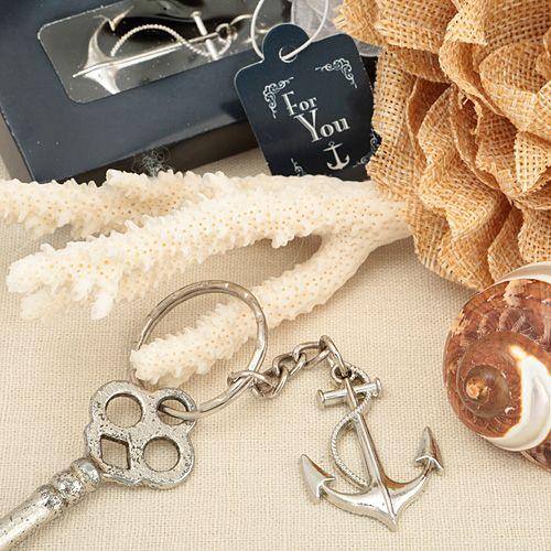Ocean Themed Anchor Key Chain Favor from HotRef.com #anchor #keychain