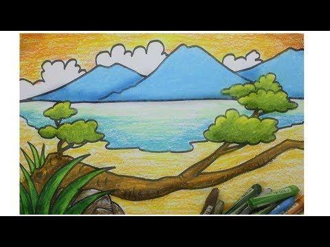 17 Contoh Lukisan Pemandangan Gunung Cara Menggambar Pemandangan Pantai Pohon Gunung Laut Download Us 8 Drawing Lessons Lukisan Lukisan Pemandangan Kota