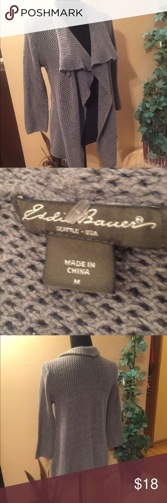 Eddie Bauer Gray Waterfall Cardigan Eddie Bauer. Gray sweater waterfall Cardigan. Like new. Eddie Bauer Sweaters Cardigans