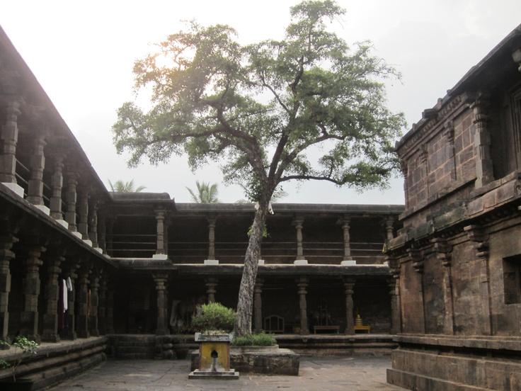 Interiors of the Kumararama Bhimeswaralayam one of the Pancharamas at Samarlakota in East Godavari.