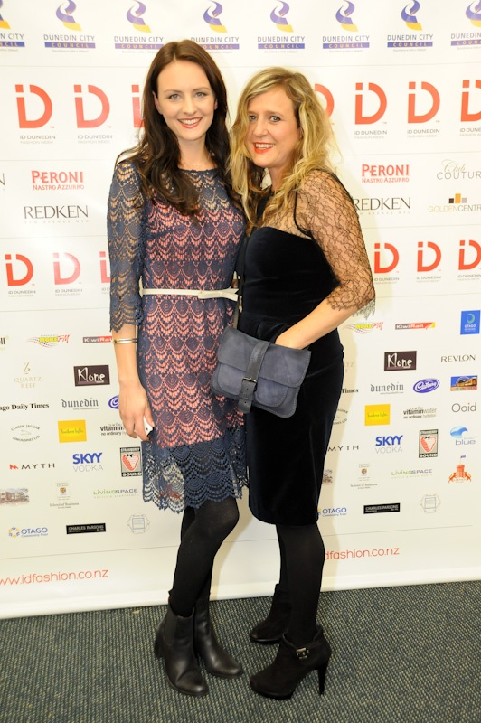 #iDFW event manager Victoria Muir and fashion designer Tanya Carlson at #iDFW 2012