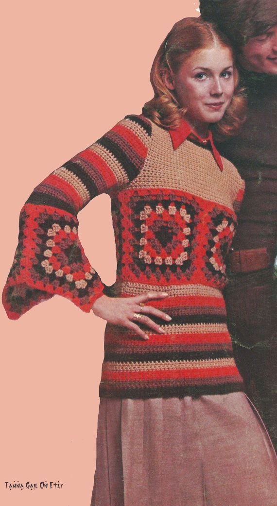 Crochet Granny Square Tunic Pattern : 17 Best images about Granny Square Clothes on Pinterest ...