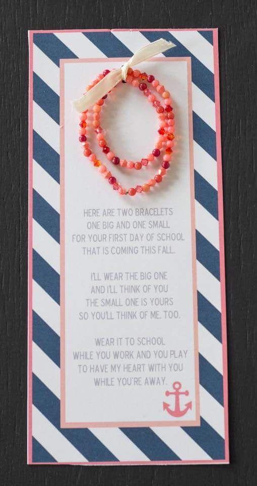 Bracelets - mom & daughter - back to school gift