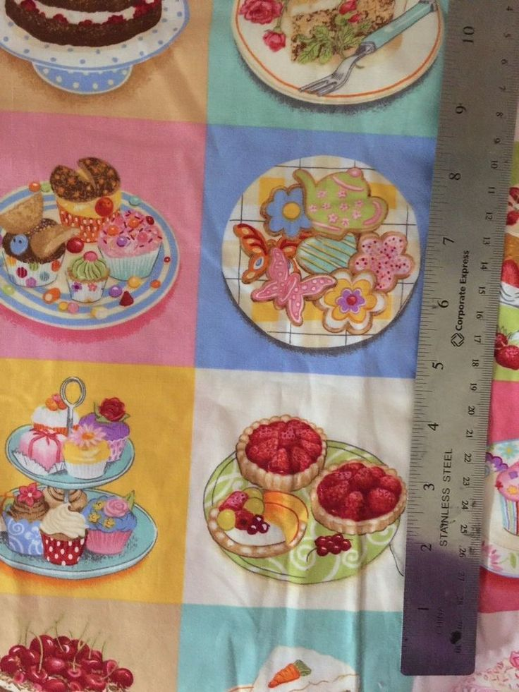 Kitchen Food Cake Ice Cream Sweets Cotton Fabric #AlexanderHenry
