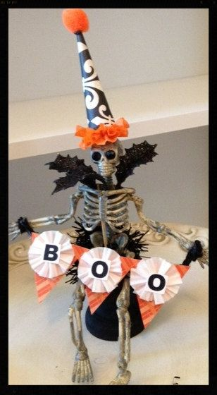 Cute Halloween Assemblage OOAK Halloween Decoration by JeanKnee, $12.00