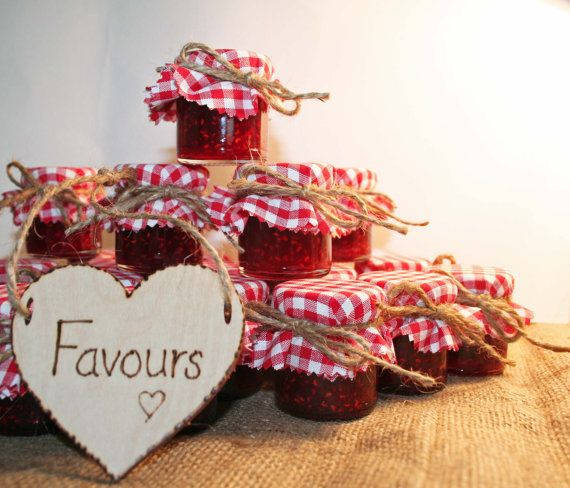 Homemade Raspberry Jam Wedding Favours with Red by Melysweddings, £1.75