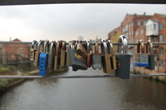 Padlock Bridge in Leeds by DWhitePhotography on Etsy