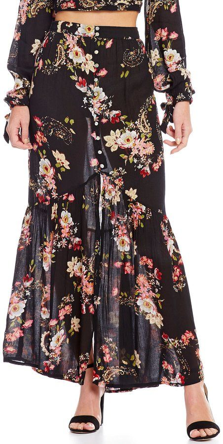 Patrons Of Peace Floral Maxi Skirt. Maxi skirt fashions. I'm an affiliate marketer. When you click on a link or buy from the retailer, I earn a commission.
