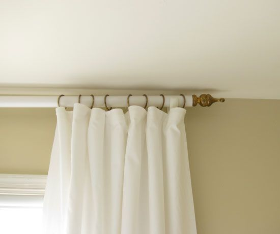 best 25 homemade curtain rods ideas on pinterest window. Black Bedroom Furniture Sets. Home Design Ideas