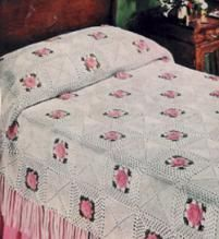 easy crochet bedspread:                                                                                                                                                     More