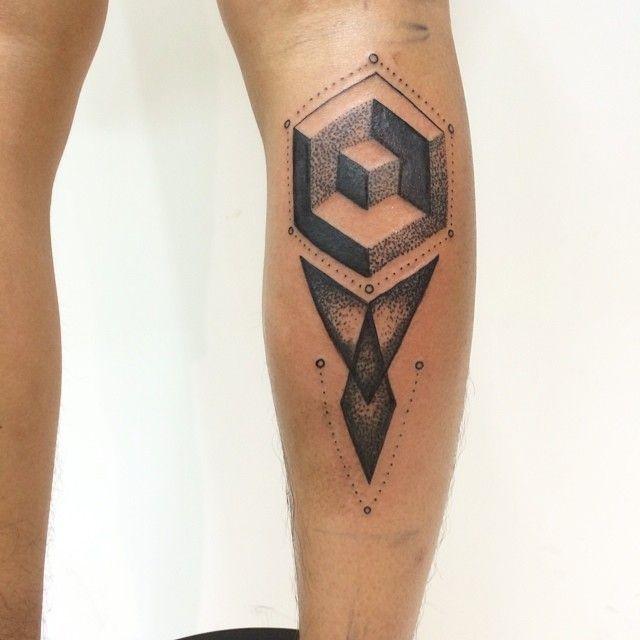 #tattoo #dottattoo #linetattoo #blackandgrey #calftattoo