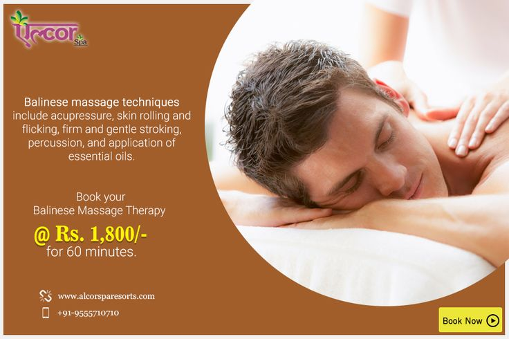 Give your mind, body and soul the perfect rejuvenation with tender oils and a Balinese massage from #AlcorSpa.Book an appointment @ Rs. 1,800/- for 60 minutes and Rs. 2,700/- for 90 minutes. Visit: http://alcorspa.in/book-appointment/ to book an appointment.#SpaService #BookanAppointment #BalineseMassage #Rejuvenate #Mind #Body #Soul #EssentialOils