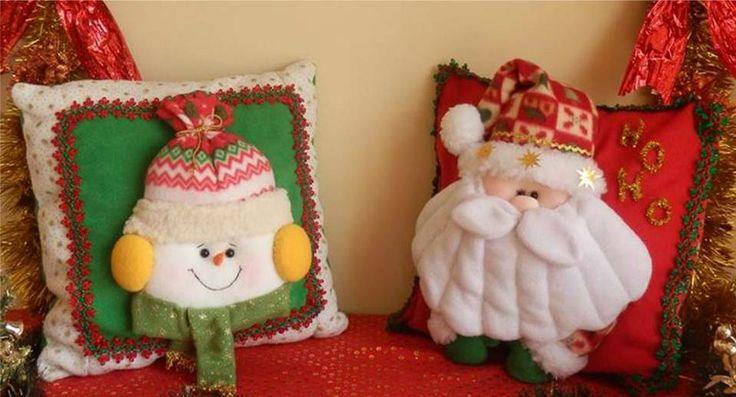 Cojin Muñeco de Nieve y Cojin Santa