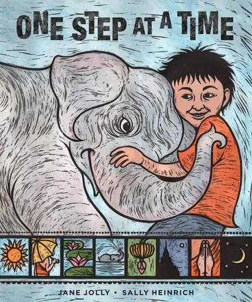 PICTURE BOOK OF THE YEAR HONOURS: One Step at a Time by Jane Jolly, Sally Heinrich.  Exquisite picture book which tells a touching story about the relationship between a young boy, Luk, and his elephant, Mali. On the border of Thailand and Burma, Mali steps on a landmine. Luk supports her during her recovery. Mali is eventually fitted with a prosthesis and gets a second chance at life. One Step at a Time is a groundbreaking story about landmines.