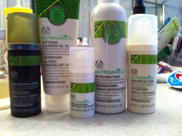 """""""Just started using @The Body Shop USA Nutriganics line. My skin has never looked or felt better!"""""""