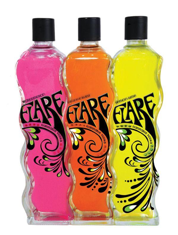 Flare Vodka Bottle Packaging by Jackie Zawislak, via Behance PD