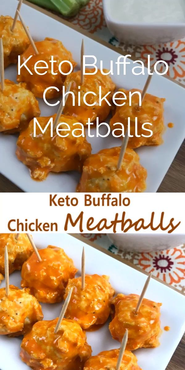 These Low Carb Buffalo Chicken Meatballs are the perfect keto appetizer for any …
