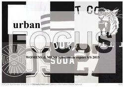 FOCUS Sportswear Urban S/S 2015 womenswear & menswear trend analysis