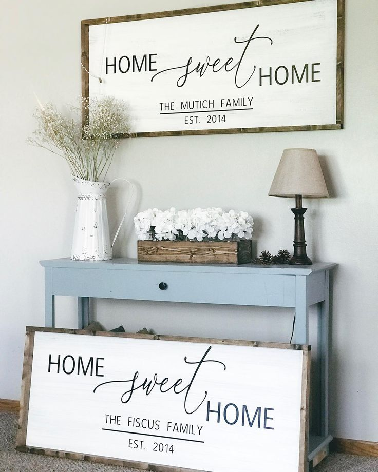 Large Home Sweet Home Sign Fall Fireplace Mantle Sign