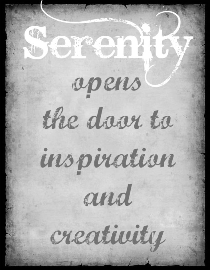 Creative And Inspirational Home Offices: Serenity Inspiration Creativity Quote