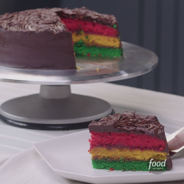 Italian Rainbow Cookie Cake will make all your dreams come true. Wait till you see the inside!