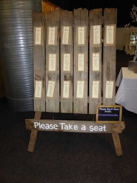 Don't you just love this seating board.  Rustic, amazing - we now have it in stock for brides to use for their reception.  http://www.tailracecentre.com.au/contact/