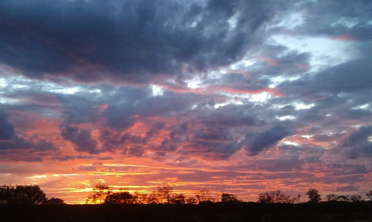 Sunset over the #Olgas View from #Uluru #Australia #theolgas #sunsets