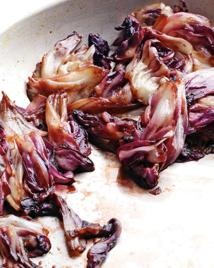 Serve this simple side of sauteed radicchio with grilled steak, chicken, or Italian sausages. (Only 2g sugar when eaten in proper serving size)