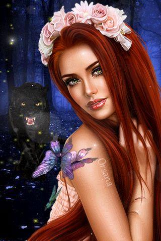Волшебство ночи - анимация на телефон №1427031