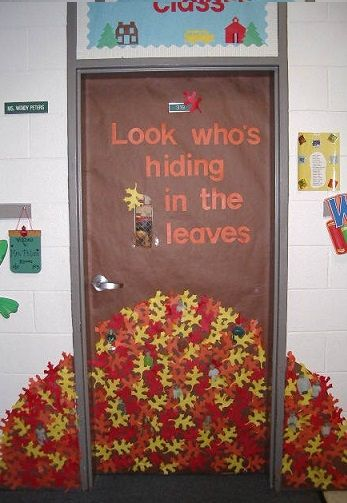 Merveilleux Fall Door Decoration Ideas For The Classroom   Crafty Morning | Class  Activities. | Pinterest | Crafty, Doors And Decoration
